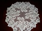 LACE WHITE 14 INCH TABLE DOILY LEAVES LEAF DESIGN TABLE ACCENT WTDL127 A