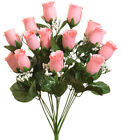 14 Roses Buds MANY COLORS Bride Bouquets Wedding Centerpieces Silk Flowers