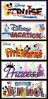 Jolees DISNEY Stickers CRUISE DINING PRINCESS FIREWORKS VACATION Mickey Minnie
