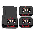 Personalized Disney Car Mat Vintage Mickey Minnie Mouse Grey Car Mat