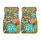 Personalized Golden Paisley Floral Car Mats