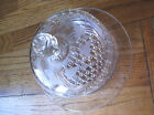 Etched Glass Covered Dish Vintage Very Good High End antique  OLD 1940's