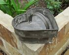 Stunning Antique Tin Heart Cheese Strainer Drainer Mold With The Rare Pusher