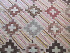 Antique early 1900's hand quilted cutter quilt madders shirtings