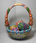 Jim Shore Hunting Eggs Finding Joy Set Easter Basket & Eggs Heartwood Collection