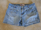 OLD NAVY JEAN SHORTS SIZE 4 VINTAGE DESTROYED  PATCHED SO HOT