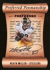 2017 Panini Preferred Penmanship Red Die Cut Heath Miller AUTO 5 25 Steelers