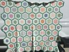 rags. VERY PRETTY GRANDMOTHERS FLOWER GARDEN QUILT SMALL PIECES ALL HAND SEWN