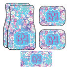 Personalized Blue Cherry Blossom Car Mats