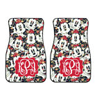 Personalized Disney Car Mat Navy Floral Mickey Mouse Car Mat