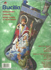 BUCILLA AWAY IN A MANGER NATIVITY NEEDLEPOINT STOCKING KIT MPN 84417SEALED 18