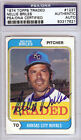 Nellie Briles Autographed 1974 Topps Traded Card #123T Royals PSA #83317621