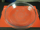 Fire King Glass Embossed Glass Philbe Round Casserole Pie Plate Lid 7 1/2