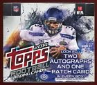 (2) 2014 TOPPS FOOTBALL SEALED HOBBY JUMBO BOX LOT rc auto patch