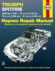 Triumph Spitfire Mk I, II, III, IV, 1500 Repair Manual 1962-1981