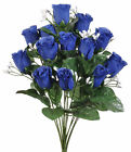 14 Roses Buds MANY COLORS Bridal Bouquets Wedding Centerpieces Silk Flowers