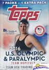 2016 Topps US Olympics Factory Sealed 16 Box Blaster CASE-Look for Phelps AUTO!