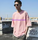 2018 New Men 90% Cotton Summer Loose Fit Retro Japanese Half Sleeve T-shirs Tops