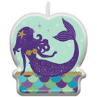MERMAID WISHES CAKE CANDLE Birthday Party Supplies Decoration Cupcake Summer