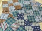 13 vintage Nine Patch quilt blocks hand stitched some feed sack cotton
