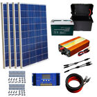 400W off Grid System 4x 100W Solar Panel Charging 12V Home Boat w Battery US