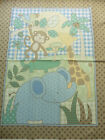 Boy Jungle Animals Monkey Elephant Giraffe Baby Cotton Fabric Panel