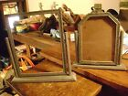 2 vintage art deco wooden tilt picture frame swivel swing easel style, 4x6-5x7