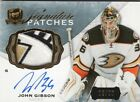 14-15 The Cup Signature Patches John Gibson Auto Ducks 13 99 Awesome patch