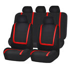 Universal Auto Full Set Car Seat Covers Polyester Front Rear 5 Heads 4 Colors