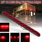 15 Red 11 LED Sealed Trailer Stop Tail and Turn 3rd Brake Light Bar Waterproof