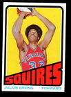 1972-73 TOPPS SQUIRES JULIUS ERVING ROOKIE CARD # 195