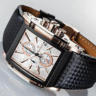 YVES CAMANI ESCAUT Mens Watch Chronograph Rosegold Black Stainless Steel New