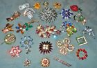 Great Variety  25 pc  Vintage Prong Set  Rhinestone  Pins Brooches  Many Colors