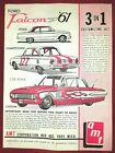 1961 Ford Falcon 3in1 AMT Model Kit INSTRUCTION SHEET ONLY. ORIGINAL