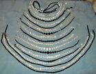 Great Variety  19  Vintage Crystal Glass Bead Necklaces  to 38