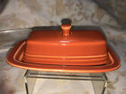 Fiesta BUTTER DISH - Original Size -Discontinued Item First quality - PAPRIKA