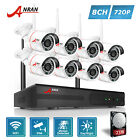 8 720P HD Outdoor Wireless Home Security Camera System with Night Vision 2TB HDD