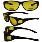 Escort Safety Glasses Fits Over Most Eyewear YELLOW Lens Z87.1 WITH POUCH