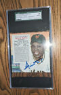 1955 red man SGC 9 tobacco WILLIE MAYS auto GIANTS signed psa dna jsa topps