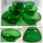 Set of 7 VERECO France Green Glass 4 1/4