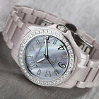 YVES CAMANI Cereste Ladies Watch Ceramic Grey Mother Of Pearl Dial New