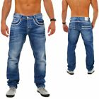 CIPO  BAXX Herren Denim Jeans Hose Vintage Look Straight Cut Regular Fit C 1127