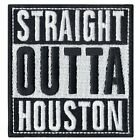 Straight Out Of Houston Logo Iron On Embroidered Patch