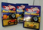 Hot Wheels VW Baja Bug Real Riders 5907 9548 2542 1983 Yellow Red White Goodyear
