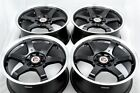 17 black wheels Cobalt CL Legend Escort Accord Civic Ion Cube 4x100 4x1143 Rims