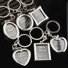 Mini Creative Metal Alloy Insert Photo Picture Frame Keyring Keychain Square