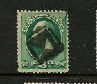 1800s US Stamp w Fancy Cancel Boldly struck Neg Opposed TRIANGLE CutoutsE