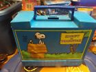 SCARCE 1970 Plastic Lunchbox Snoopy And Woodstock Blue Lunch Box
