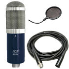 MXL R144 Ribbon Microphone w 20 Ft XLR Cable and Pop Filter Screen