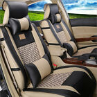 Deluxe Universal 5 Seats Car Pu Leather Front Rear Cover Cushion Mat Pillows